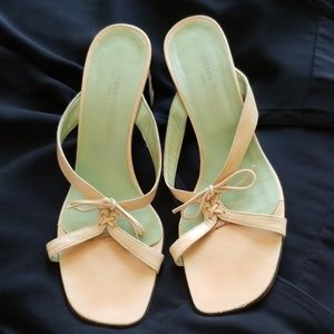 Sigerson Morrison Slip Tan Sandals Italy 8